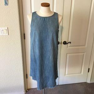 Blue Jean Dress/Tunic w/ Side Button Detail